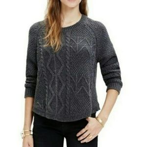 Madewell /// Gray Cable Knit Sweater